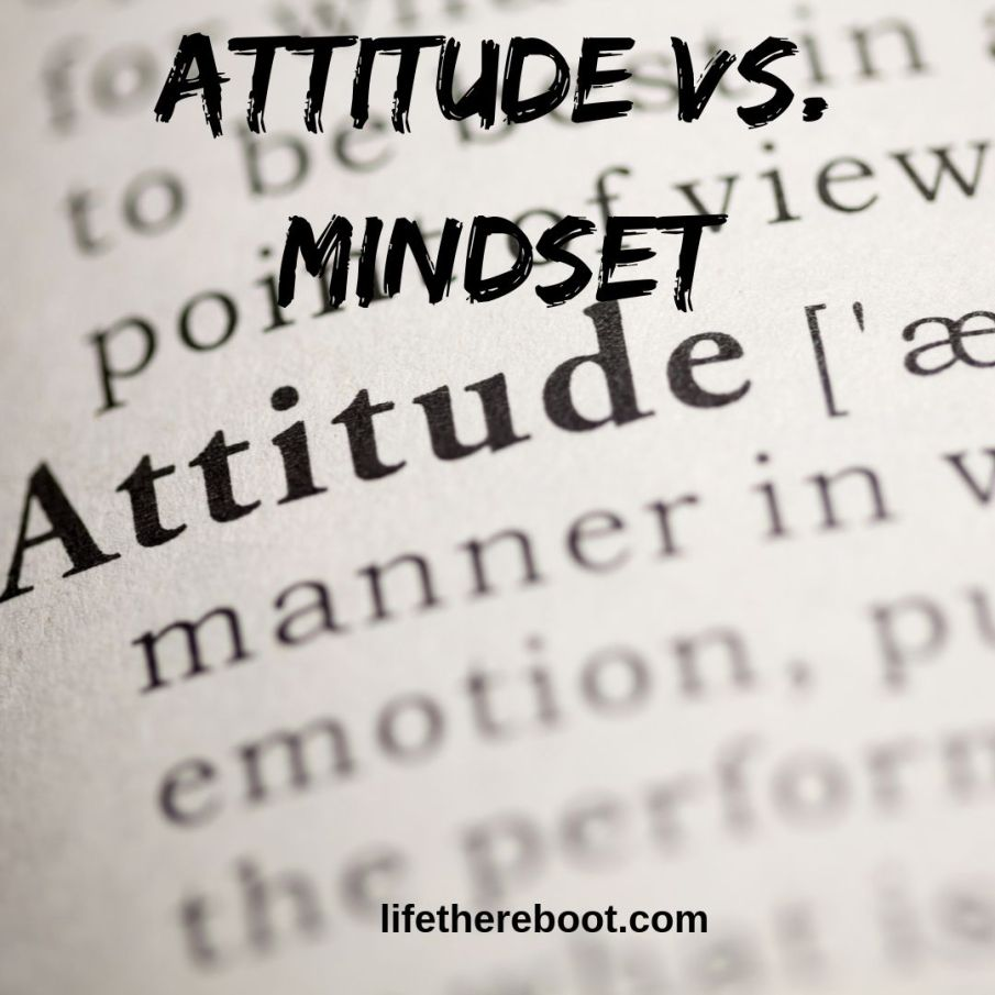 attitude vs mindset