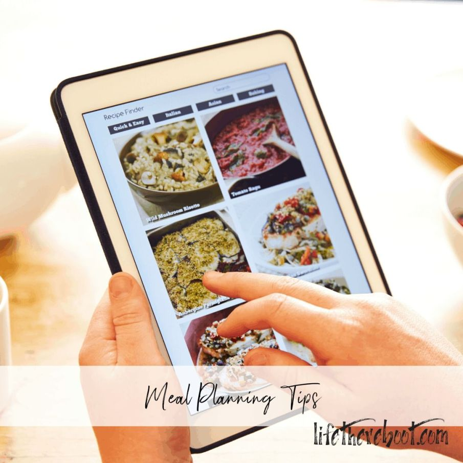 meal planning for moms