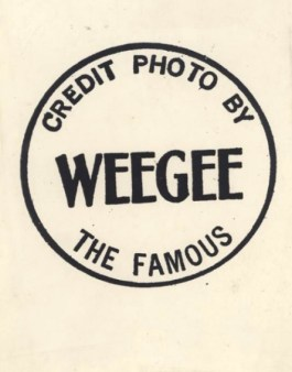 Credit Photo by Weegee The Famous, ca. 1950