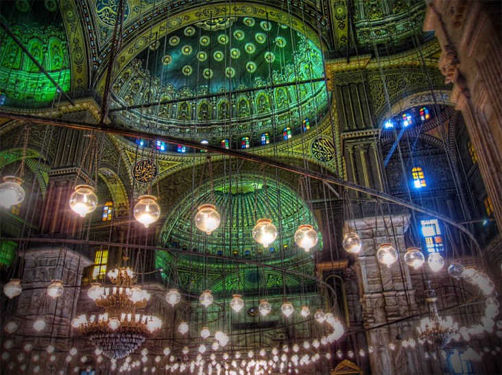 Majestical Green Interior of Muhammad Ali Mosque web 1000 n 72