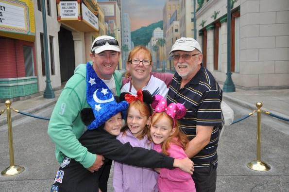 With Pop in Disneyland