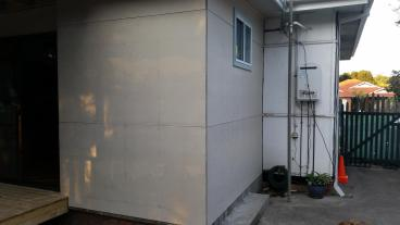 walls of the new room