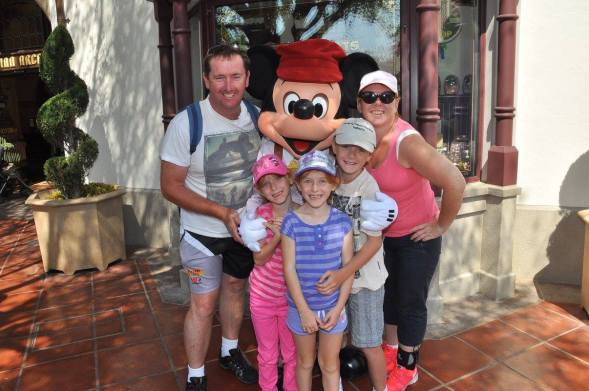 Family photo in Disneyland 2013