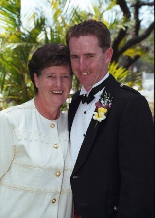 Andrew and his Mum on our wedding day