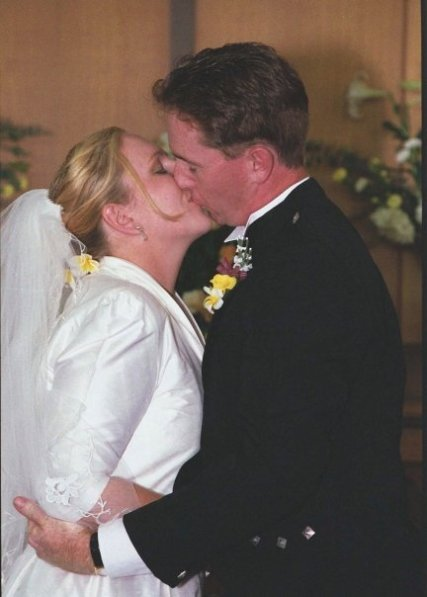 First kiss as man and wife