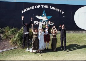 At the home of the mighty Sharks