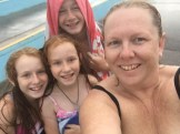 The kids and I after an ocean swim