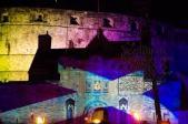 Saint Andrew Flag on the Edinburgh Castle
