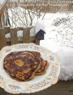 Apple Sour Cream Pancakes   © Life Through the Kitchen Window.com