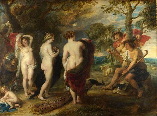 A painting showing chubby women