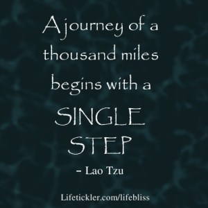 Start with a single step
