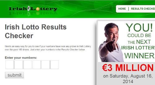 Irish lottery Results Checker