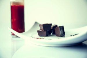 chocolate on plate