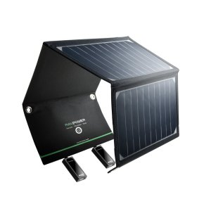 ravpower 16w solar panel charger for travel and backpacking