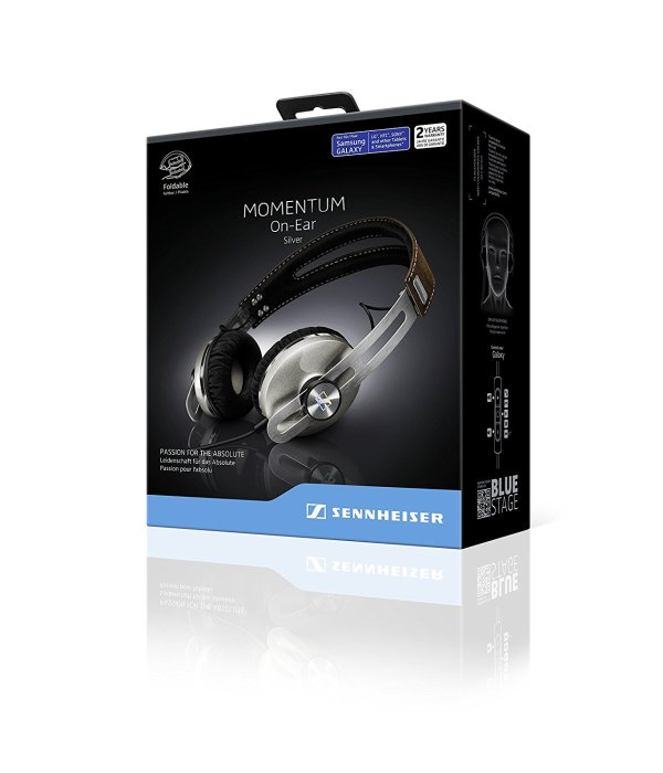 sennheiser M2 stylish luxury travel headphones box