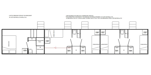 Condo with private bath, large double bunk room, 3 double bunk rooms and 2 baths