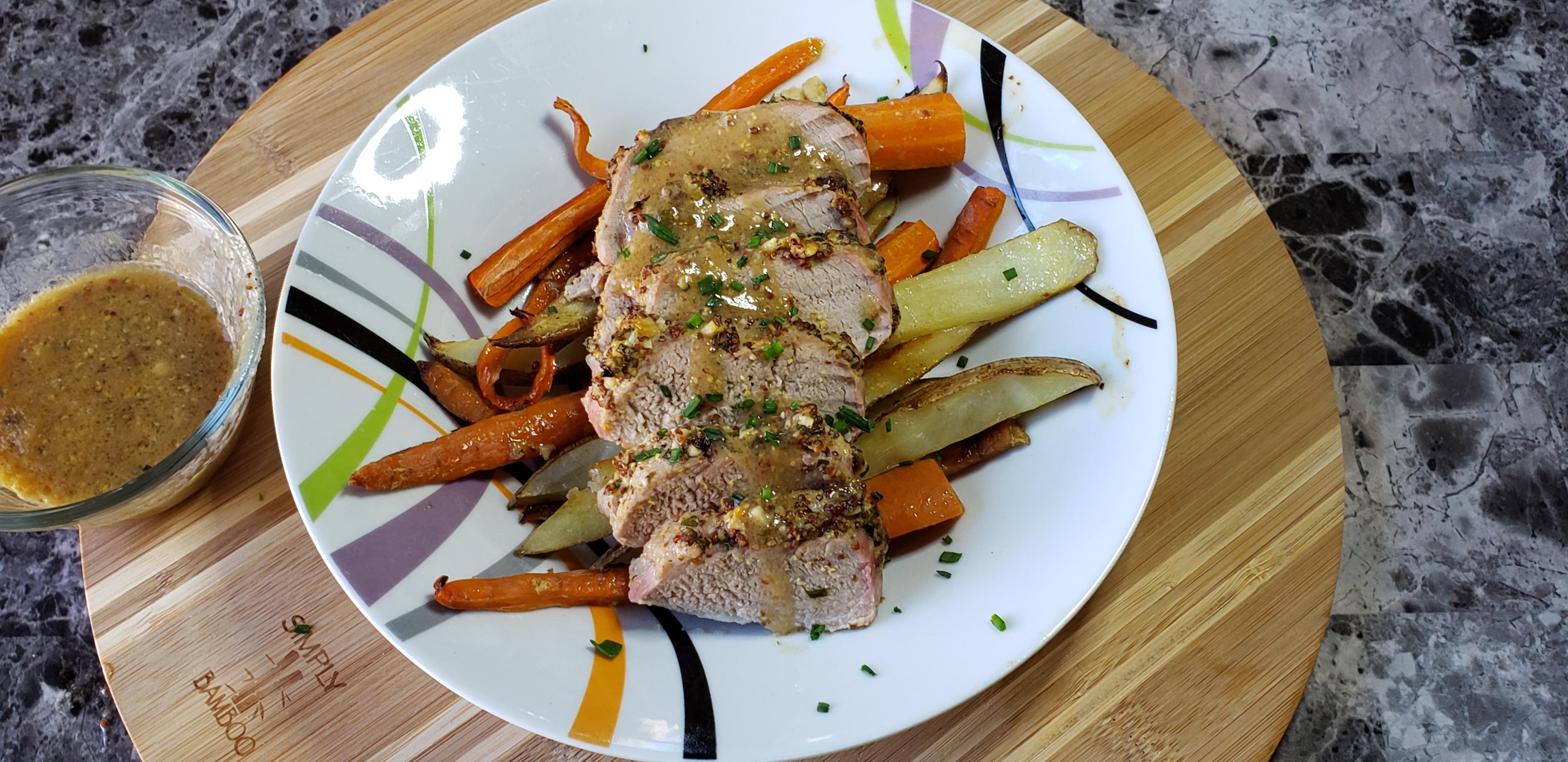 Garlic-Herb Pork Tenderloin with Grenache wine pairing