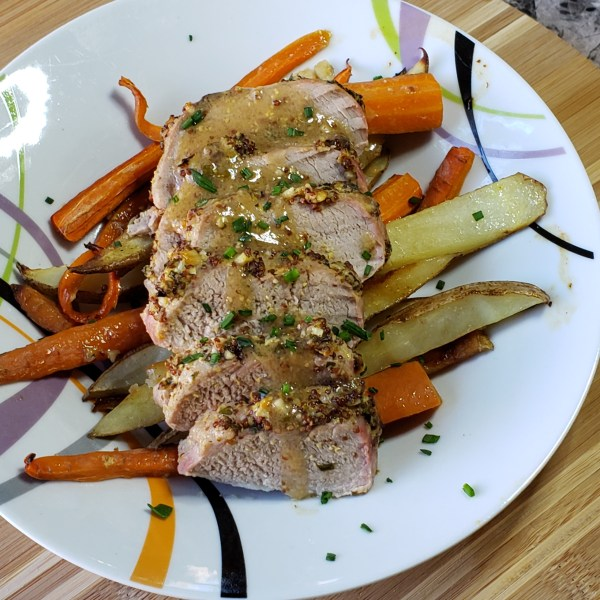 Garlic-Herb Pork Tenderloin with Grenache wine pairing