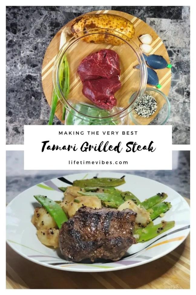Tamari Grilled Steak recipe