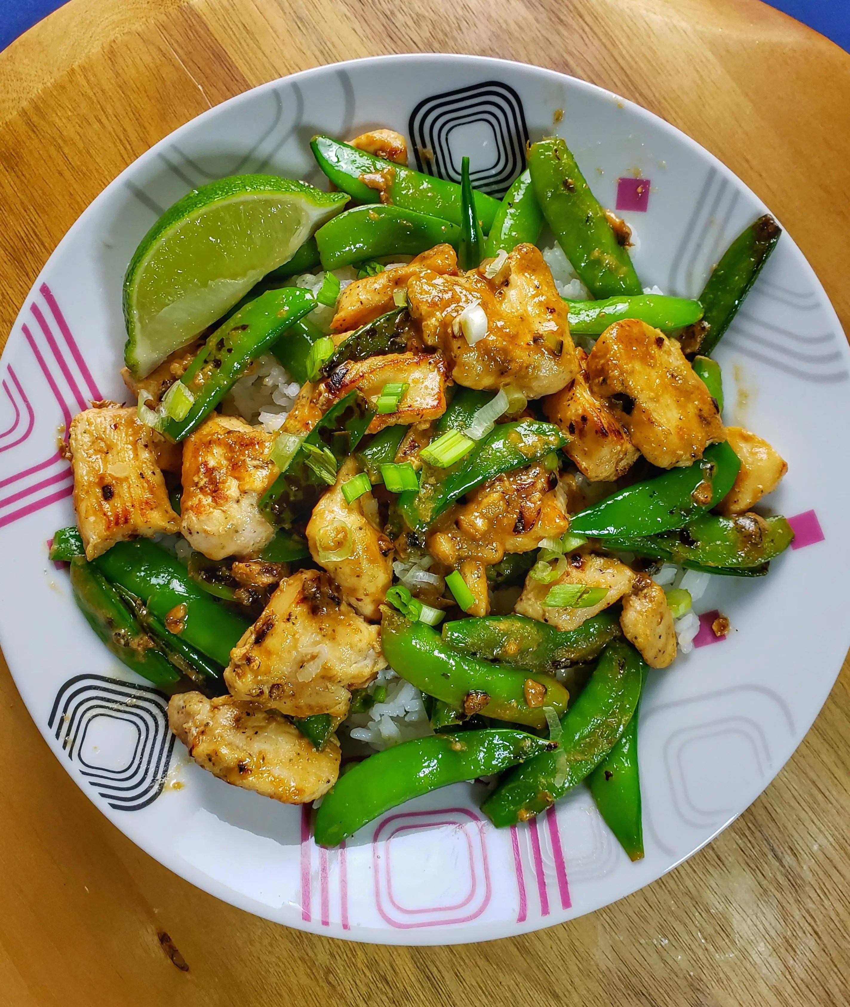 Chicken and Snap Pea Stir-Fry and wine pairing
