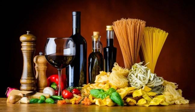 wine pasta Mediterranean diet
