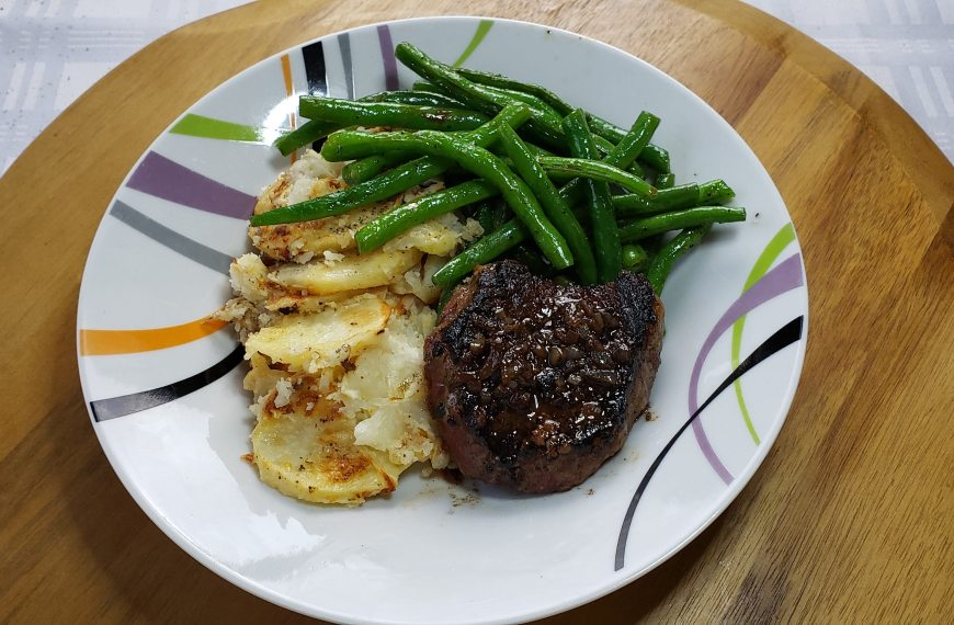 Pan Seared Sirloin Steak and nice Cabernet