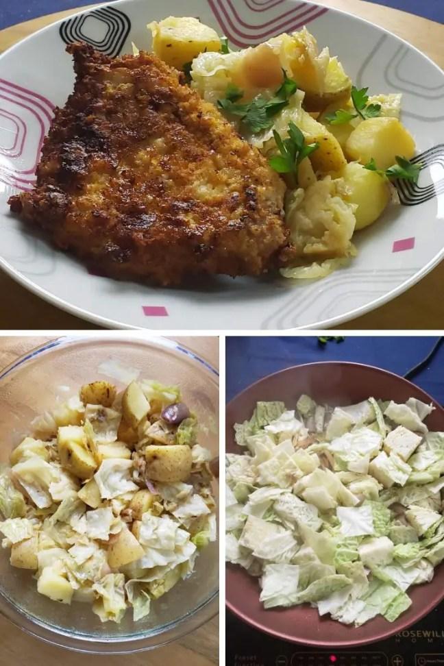 Pork Schnitzel with Warm Cabbage