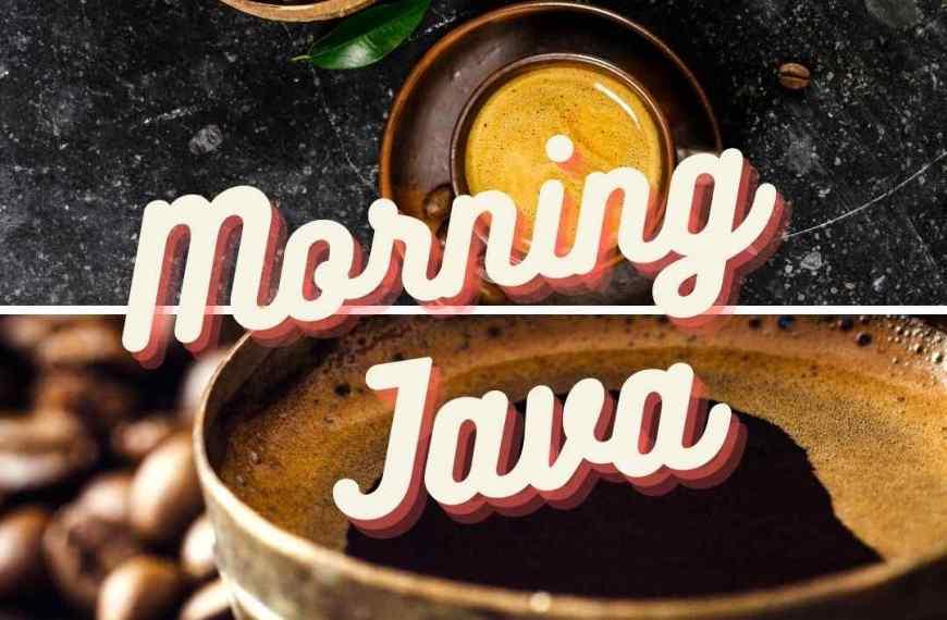 Morning Java 5 coffee recipes