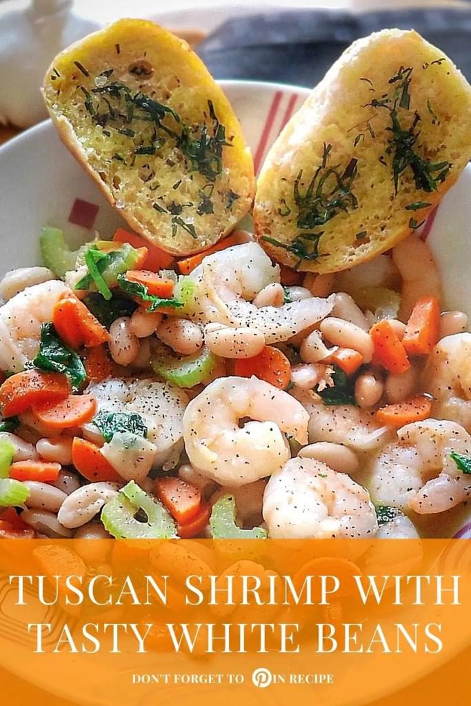Tuscan shrimp with tasty white beans