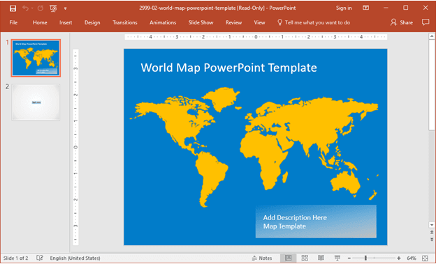 best powerpoint templates with maps