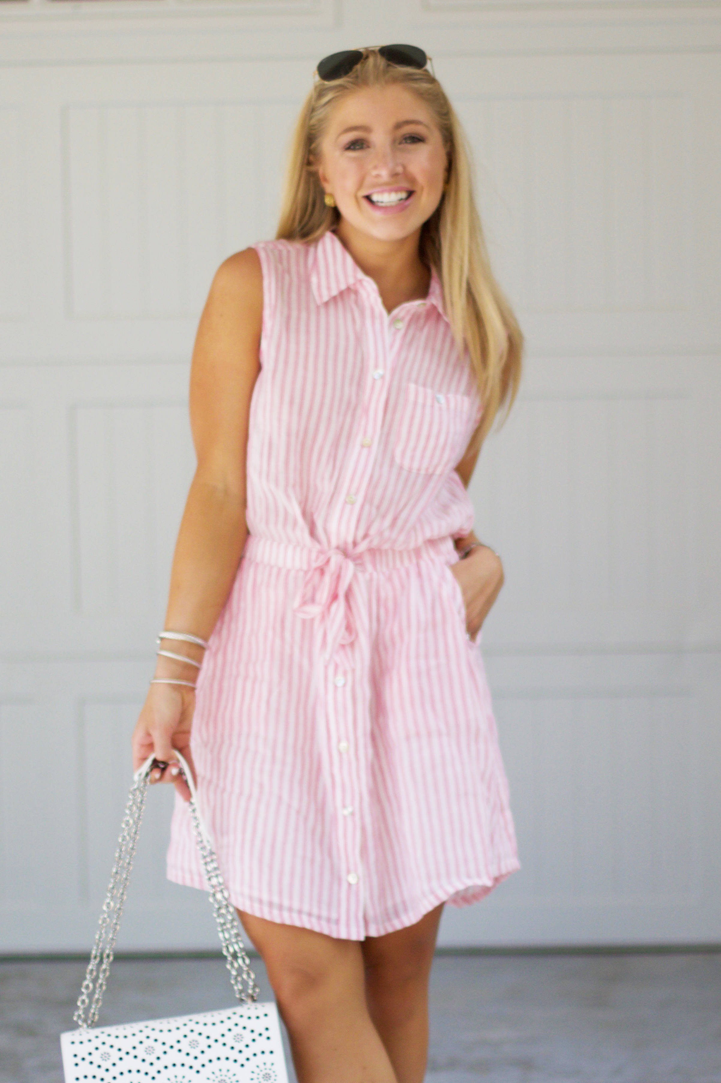 Pink Striped Summer Dress