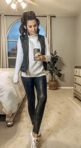 How To Style Faux Leather Leggings 5 Ways