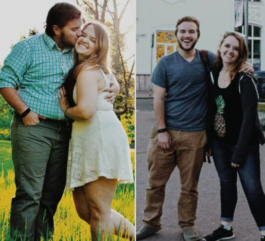 Before and after photo of Aaron and Emily's weight loss