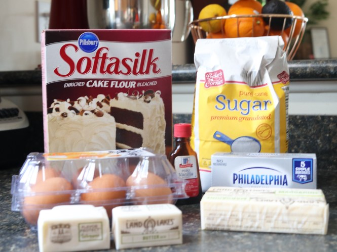 Cream Cheese Pound Cake Ingredients