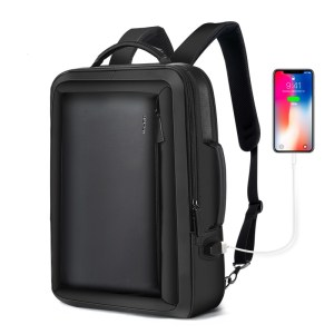 Leather Travel Backpack Waterproof Slim Laptop