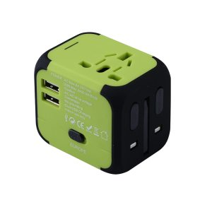 Universal Travel Plug Adapter with Dual USB