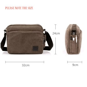 Scione Canvas Multifunction Messenger Shoulder Bags Solid Briefcases Suitcase Card Pocket For Men Women Office Outdoor Travel