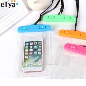 eTya Women Men Travel Wallet Phone Coin Bag Phone Waterproof Bag Summer Beach Case Travel Accessories