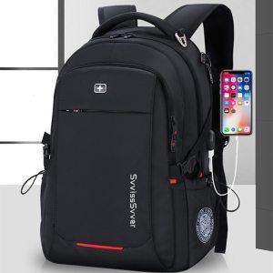 svvisssvver male Multifunction USB charging fashion business casual travel anti theft waterproof 15.6 inch Laptop men