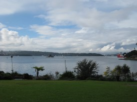 With the Opera House ahead, here is the view of the harbour