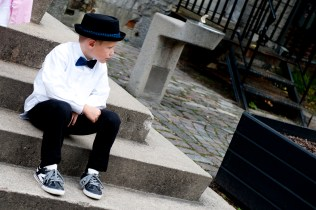 Emmett was just one of the boys rocking the dapper hat - the kids kinda put us adults to shame!