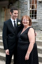 B and his mom, Sue, share a cute moment