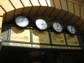 #2 stop: The clocks at Flinders Street Station