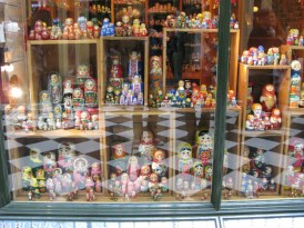 Lots of weird shops - including this one filled with Russian dolls