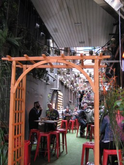 This place caught our eye for the hanging plants in jars