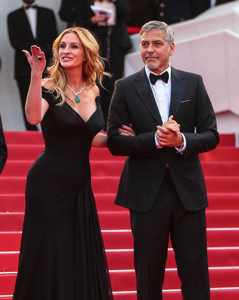 Red Carpet arrivals for the Money Monster screening at the 69th Cannes Film Festival Featuring: Julia Roberts, George Clooney, Jack O'Connell Where: Cannes, France When: 12 May 2016 Credit: WENN.com