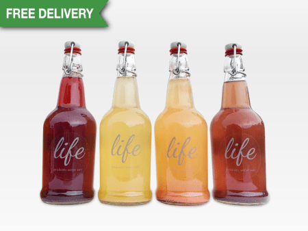 LIFE | 4-Pack Water Kefir (FREE DELIVERY)