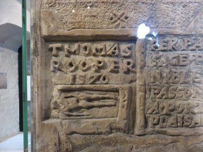 prisoner graffiti in beauchamp tower in the tower of london