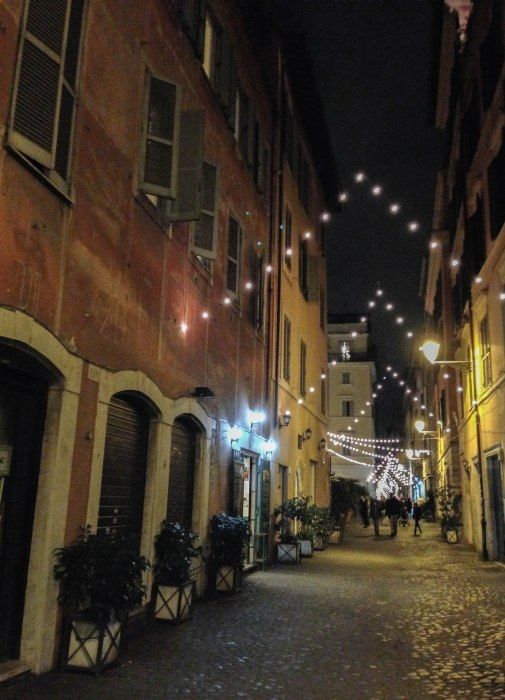 christmas day in rome at night