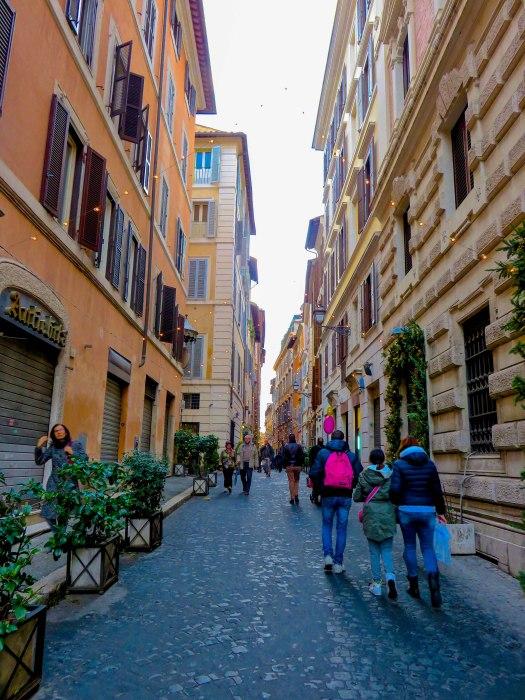 rome street at christmas